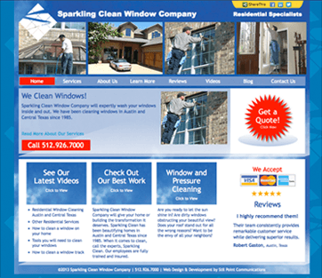 Sparkling Clean Window Company website
